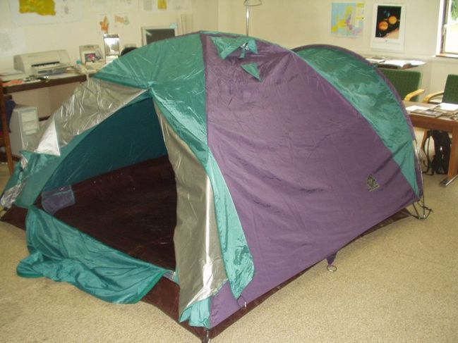tent in my office-room