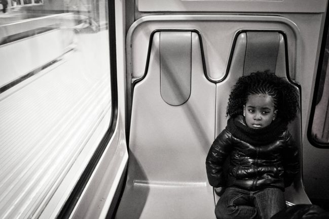 Little child in the subway
