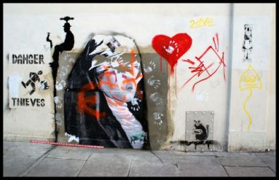 by Banksy and ???
